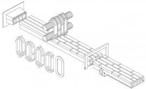 Voorbeeld groter patroonblok met strengpers