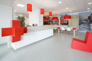De nieuwe entree van het Rode Kruisgebouw