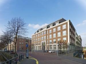 Hoofdentree aan de Nieuwe Uitleg in Den Haag.
