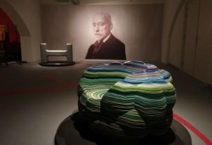 Portret van Hendrik Petrus Berlage en stoelen van Marc Ruygrok en Richard Hutten - foto Jacqueline Knudsen