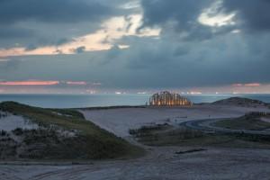Zandwacht bij avond Foto: Freek van Arkel