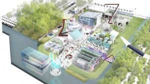 De Green Village is een testomgeving voor de (grotere) Green Campus van de TU Delft, een compleet zelfvoorzienende broedplaats voor studenten, researchers en bedrijven