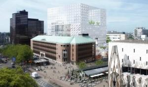 Het voormalige bankkantoor waarin Donner zit, is onderdeel van het Forumplan Rotterdam van Multi Vastgoed, ontwerp OMA.