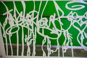 Voor de kinderkliniek op Broadway (2015) zijn hekwerken gemaakt gebaseerd op graffiti van straatkunstenaars • Foto's Phill Mansfield.