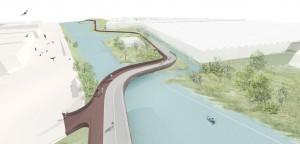 brug vormt de entree naar Poelzone Noord, een ecologische zone door het Westland