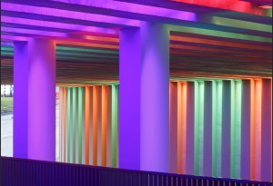 Zutphen lichtkunstwerk Herman Kuijer voor Prorail