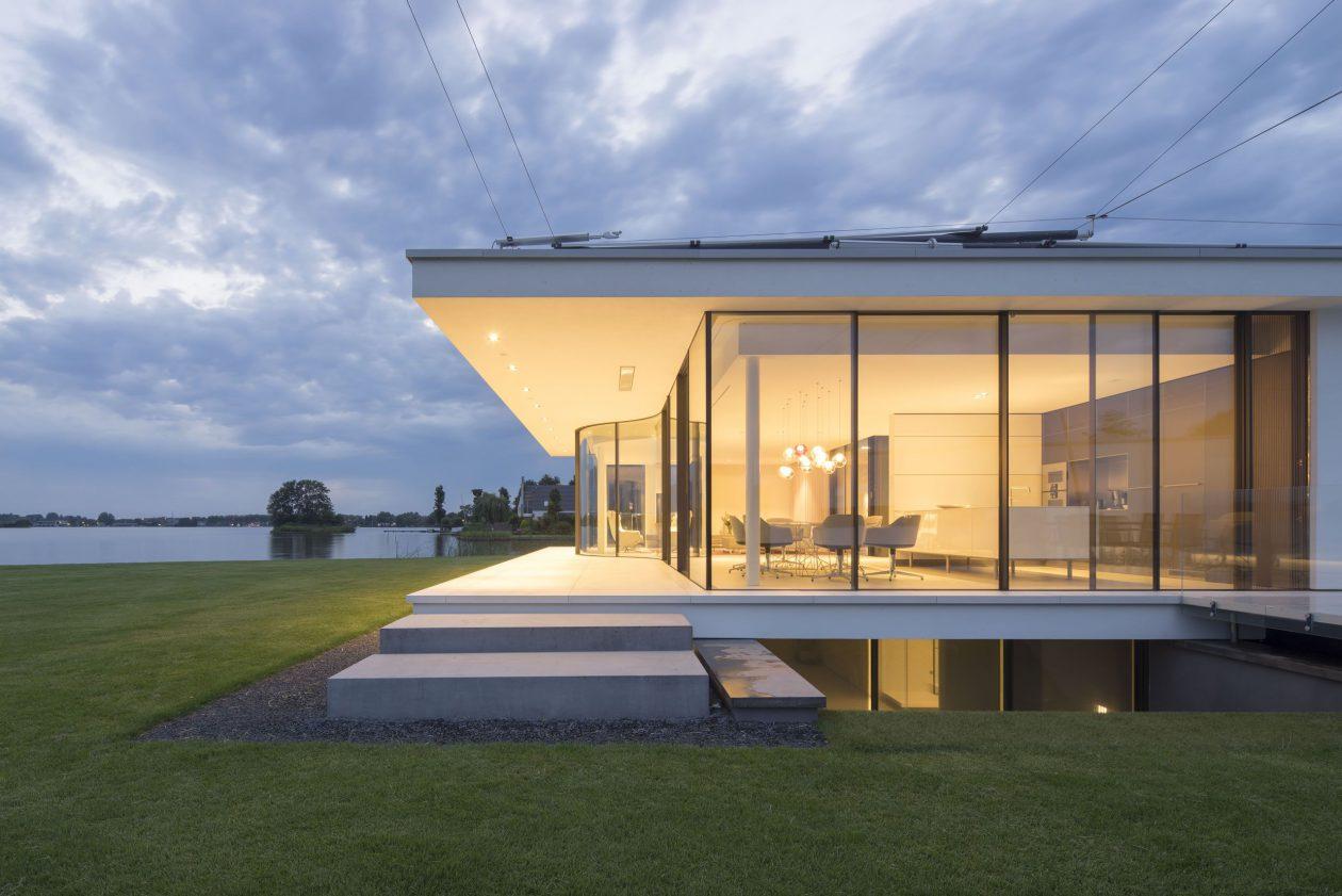 Eigentijdse villa g house architectuur