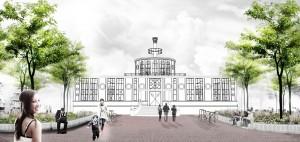 Delva Landscape Architects maakte in samenwerking van Michael van Gessel een ontwerp voor een tuin rondom het Onderwijsmuseum.