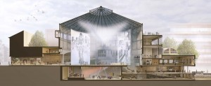 Transformatie Wintercircus in Gent (ontwerp 2013-2015) Architect Atelier Kempe Thill.