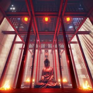 Japanse tempel' is ontwikkeld i.s.m. Perceptive Minds. Dit project was een eerste experiment met 'tracking VR architecture'. De lichaamsbeweging wordt gevolgd met drie camera's waardoor de gebruiker vrij kan rondlopen in een virtuele ruimte; de digitale beelden passen zich aan de veranderende gebruikerslocatie aan. Door middel van deze interactieve ontwerpen kan een scala aan mogelijkheden worden verkend in verschillende disciplines, waaronder architectuur, gezondheid, kunst, productpresentatie, historie, educatie en entertainment.