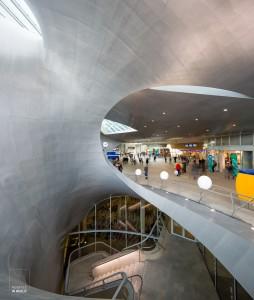 Verschillende lagen in het nieuwe station van Arnhem
