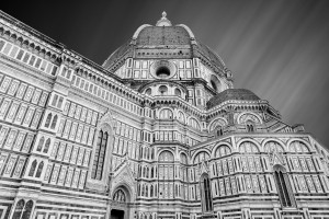 Foto 6: dynamische opname van de Dom in Florence, gebruik makend van lange sluitertijden