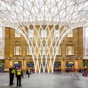 Kings Cross station, een van de oudste en tegelijk modernste stations in Londen