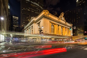 Foto 2: Lichtsporen rond de Grand Central Terminal New York, USA