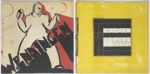 omslagen van het tijdschrift Wendingen Links Hildo Krop ( nr. 5/6, 1932). Rechts Tine Baanders (nr. 7, 1929).  Foto: Erik & Petra Hesmerg.