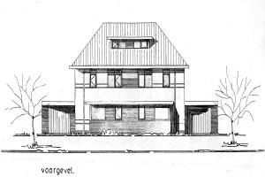 Woningtype Orion II, prijsvraagontwerp B. 1999 voor 6 woningen in Bedum, niet gebouwd.