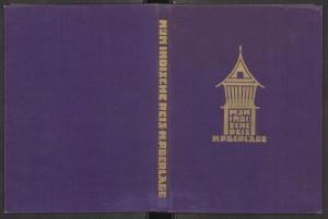 Berlage - Mijn Indische reis. Omslag is door Berlage zelf ontworpen. Rotterdam 1931
