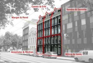 9. In een blok met voorheen sociale huurwoningen in de Dapperbuurt in Amsterdam heeft Jeroen Mensink van JAM* architecten i.o.v. CPO Dappere Maurits vijf compleet verschillende woningen ontworpen. Het initiatief voor dit project nam woningbouwvereniging De Key. Foto: Kees Hummel