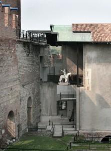 Verbouwing Museum Castelvecchio in Verona, architect Carlo Scarpa, begin jaren '70.