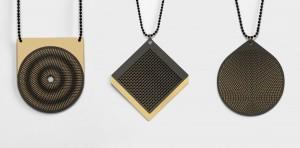Hypnotiserende Moiré-sieraden van David Derksen