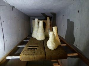 Object Rotterdam 2016 mortuarium met Meat Marble vazen van Atelier Monte