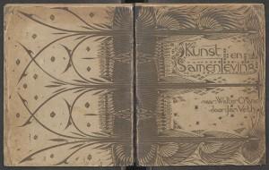 Band tweede Nederlandse druk van Walter Crane's Claims for Decorative Arts, 1894. Het ontwerp is van G.W. DIjsselhof.