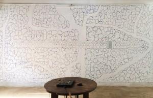 2. Studio Anne Dessing, muurschildering gemaakt in residence in Kochi  India