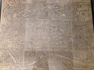 Pirro Ligorio vogelvlucht van Rome. Effigies antiquae roma 1561