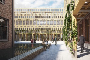 Burgermeestershof stadskantoor Deventer. Impressie Neutelings Riedijk