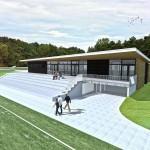 Ontwerp Uitkragend dak voor Clubhuis HC Schiedam