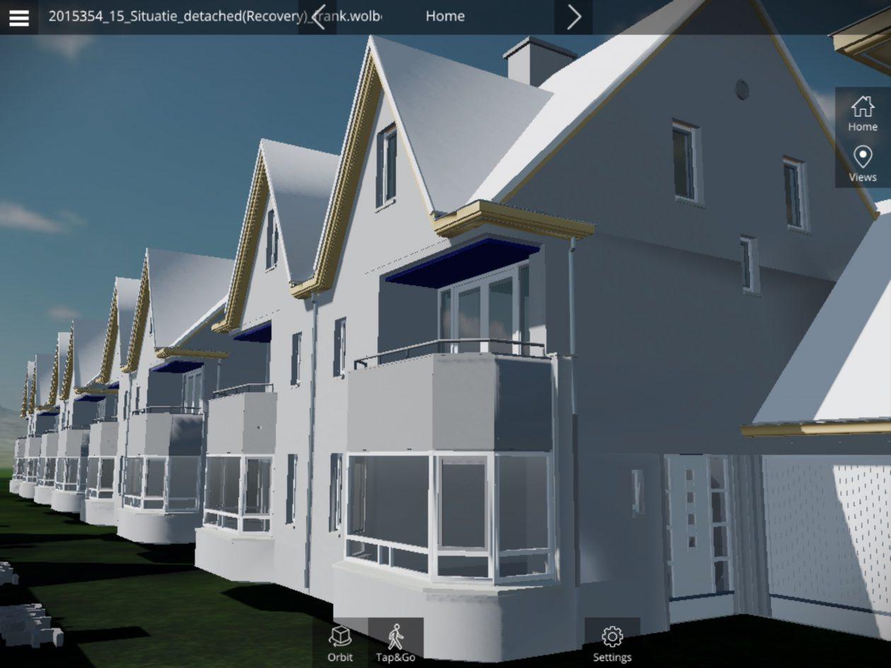 Virtueel en in 3d door toekomstig huis - Model van huisarchitectuur ...