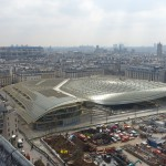 Gigantisch glasdak Parijs Canopée des Halles architect Patrick Berger
