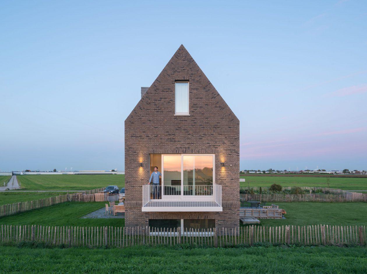 Eigentijds landhuisje architectuur