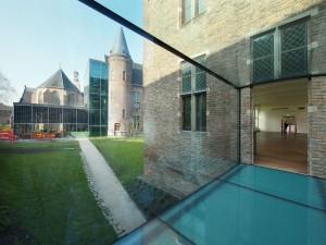 Brug met uitzicht op museumcafe. Foto Hagen Zeisberg