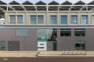 Exterieur van de Stadsdeelwerf in Amsterdam-Zuid