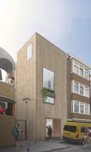 De eerste zelfbouwwoning Rotterdam met stenen van StoneCycling, in kettingverband met doorgezaagde stenen