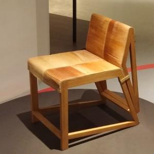 Palmleren stoel, te zien t/m 15 mei op de expositie 'Berlage, Godfather of Dutch design' in de Amsterdamse Beurs van Berlage. Foto Jacqueline Knudsen