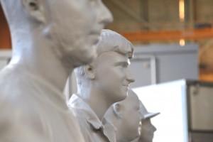6. Geprinte beelden van 5  'gewone' Rotterdammers voor Museum Rotterdam.
