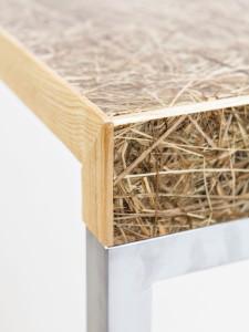 Binnen het bedrijf HuisVeendam ontwikkelt Veenhoven biolaminaat van organische afval, oogstgoed en bijzondere gewassen, toepasbaar voor meubels, wand en vloer.