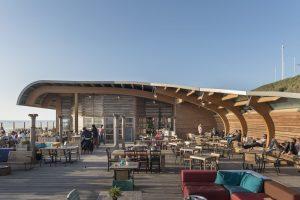 San Blas, permanent strandpaviljoen Bloemendaal aan Zee. Ontwerp van architect Hjalmar Fredriksson • Foto's Charlotte Bogaert