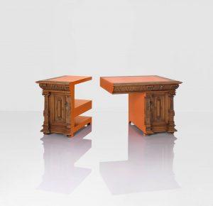 Juliana & Rolf. Bruggink kocht meubilair van prinses Juliana, en transformeerde die tot nieuwe meubels • Foto Cornbread Works.