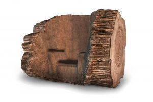Maarten Baas heeft een mal bedacht waarlangs een boom moet groeien. Als de boom over tweehonderd jaar volgroeid is, kan de Tree Trunk Chair worden geoogst