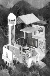9. Het Behouden Huis van W.F. Hermans, voor 50 fictieve gebouwen, literair tijdschrift DWB 5.
