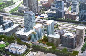 Twin Towers, Zuidas Amsterdam. Ontwerp KCAP Architects & Planners.
