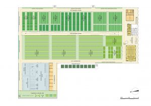 Plattegrond 1e verdieping met vier verschillende klimaatzones.