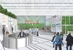 Stadstuinbouw Plein met bezoekersfaciliteiten