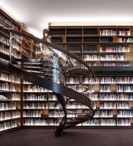 Bibliotheek ontworpen door Andrea Milani Museum Voorlinden, Wassenaar. Foto: Pietro Savorelli