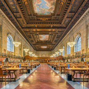 De leeszaal (Rose Reading Room) van de New York Public Library