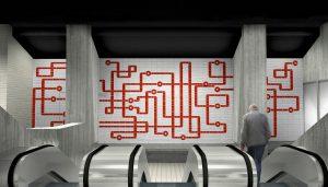 Eén handschrift verbindt alle stations van de metro Oostlijn in Amsterdam, ontwerp GroupA