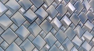 Het Oog op museum De Fundatie in Zwolle, wigvormige keramieken tegels in blauw-wit. Ontwerp van Bierman- Henket. Foto Jacqueline Knudsen.